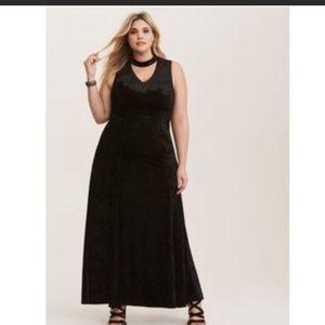 Torrid black velvet dress